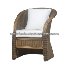 Classic Rattan Sofa with Upholstered