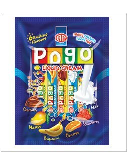 Pogo Liquid cream candy in Tubes