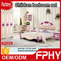 Factory supply 82 series Kids Bedroom Set MDF olive wood furniture