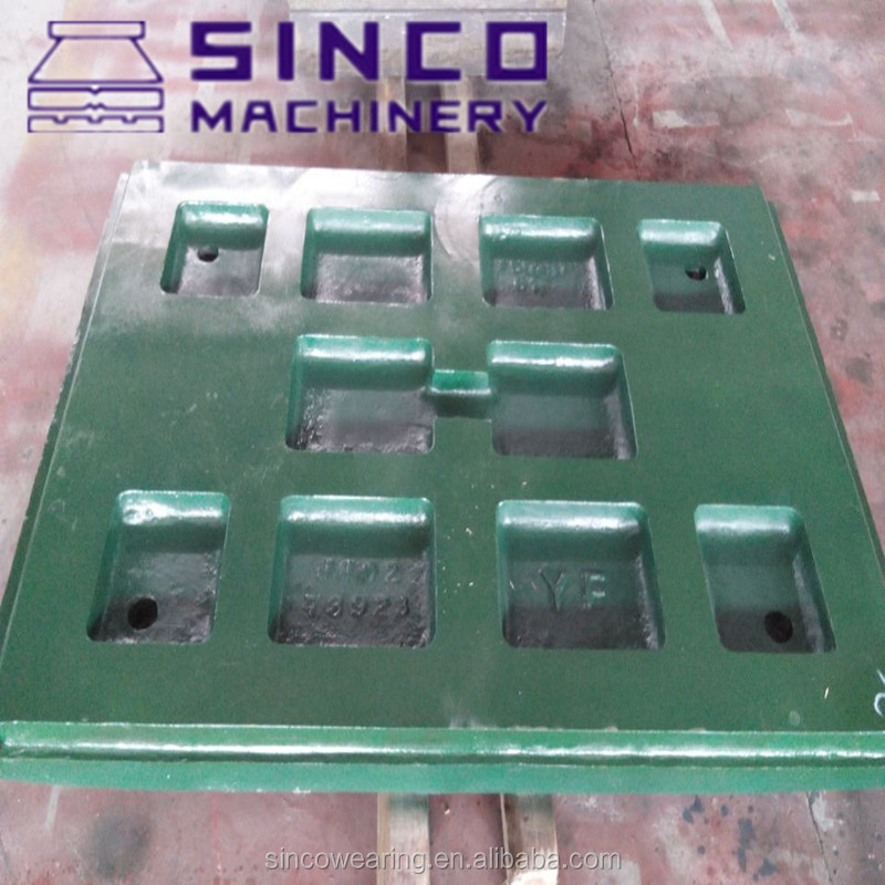 Jaw Plate Mn18Cr2 jaw crusher spare parts High manganese PE400X600