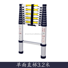 3.2 Meters Single aluminum pipe light Telescopic Ladder