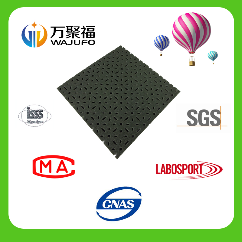 Artificial grass foam pad for football field