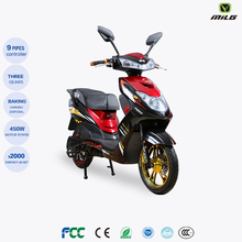2018 New model cheap electric motorcycle 500w electronic scooter with rear box