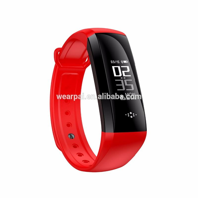 Plastic fittness bluetooth bracelet fitness tracker with blood pressure made in China