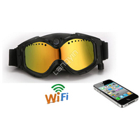 Full hd 1080p sports safety sunglasses camera snow skiing goggles camera with wifi for iphone & Android