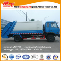 Dongfeng 153 garbage compactor truck compression machine refuse collection vehicle cargo truck