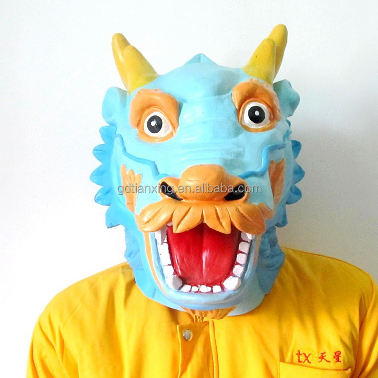 Chinese Dragon Mask Animal head latex mask for Halloween