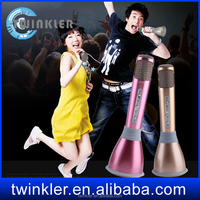 Wholesale K068 Wireless Microphone with Mic Speaker Karaoke wireless neumann microphone voice recorder