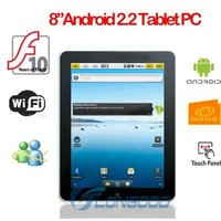 "8"" Freescale Cam MID 512M DDR2 4GB Tablet PC Android 2.2"