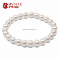 Double layered women pearl bracelet costome jewelry pearl bracelet
