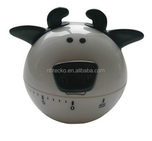 Plastic cow shape desk kitchen timer/mechanical timer