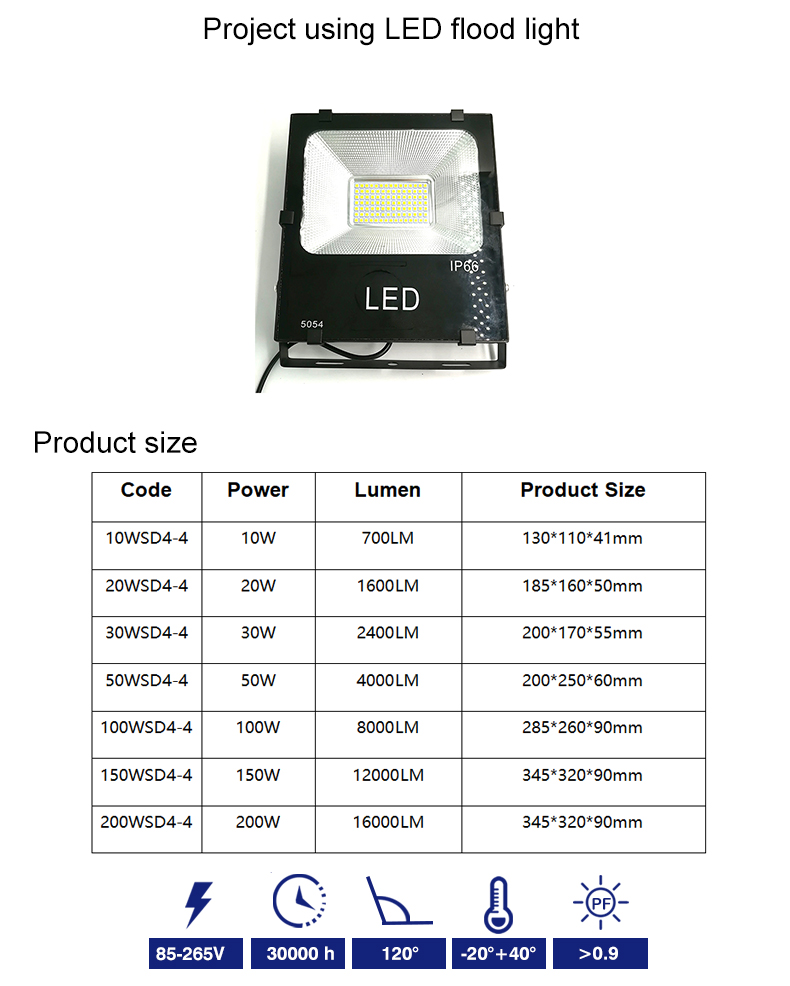 Ningbo Epes Rotatable High Lumen 100W LED Module Flood Light for Tennis Court