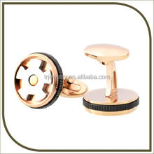 Rose gold plated cufflink design with box for 2016 provided by cufflink manufacturer