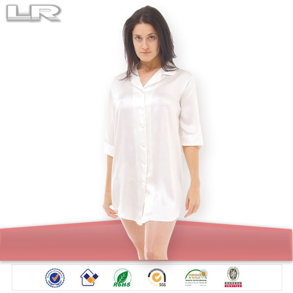 100% Girls Silk Nightwear/Sexy Nightshirt for Women