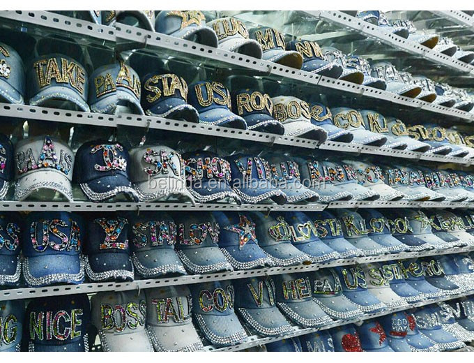 Free Shipping by DHL/FEDEX/SF Women Retro Distressed Crystal Blue Denim Men Baseball Cap