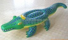 Hot promotional water crocodile floating animal,ride on inflatable toys