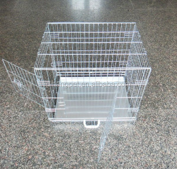 Trade Assurance Foldable Suitcase Wire Metal Folding Pet Cage Crate Dog Kennel Dog Cage