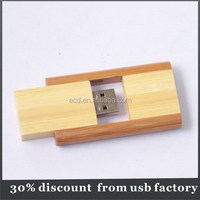 slim filp usb drive bulk 16GB natural wooden usb 2.0 flash drive