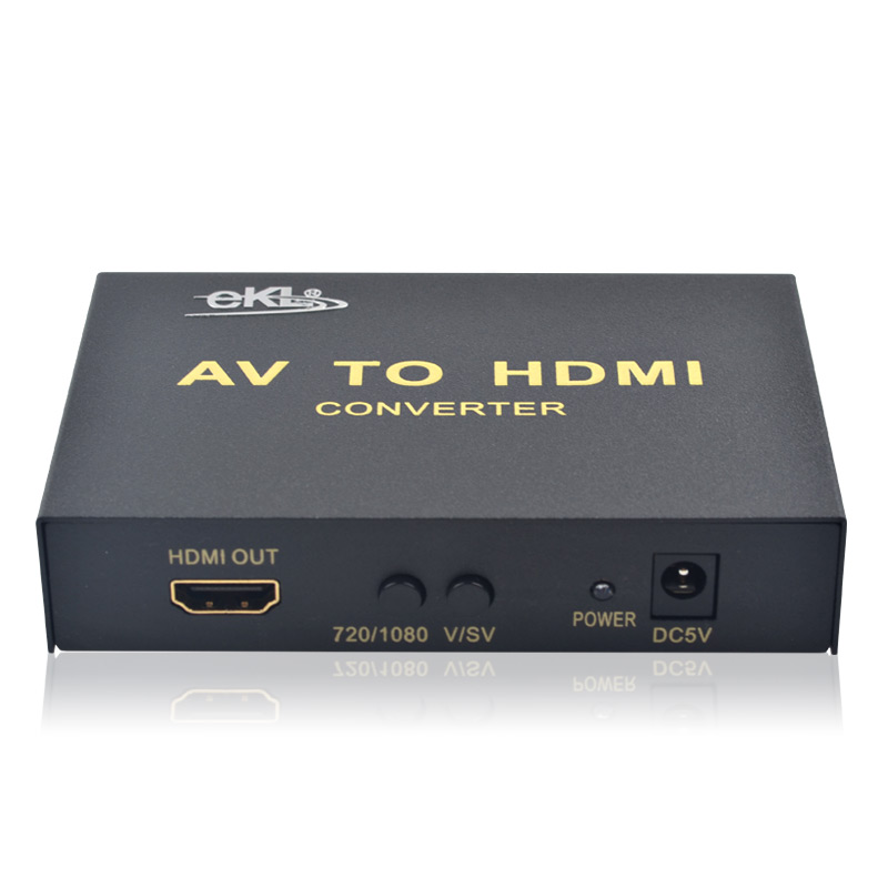 CVBS Composite Video AV to HDMI Converter Box Upscale 720P 1080P Compatible composite av to hdmi converter
