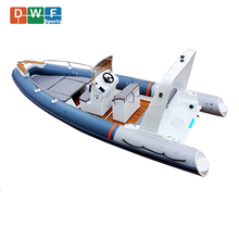 Fiberglass Hull Inflatable Boat Hypalon or PVC Rigid Boat RIBs