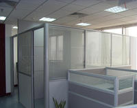 Boss office modern half height glass cubicle partition,office partition wall ( SZ-WSP361)