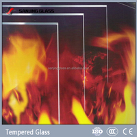 Clear fireproof glass tempered glass