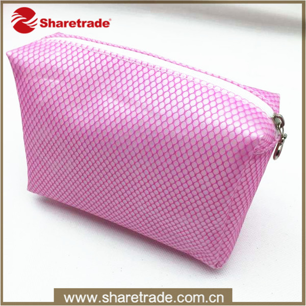New Design Custom Promotional Pink Soft Pvc Necessarie Cosmetic Bag