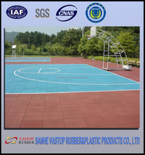 Outdoor Synthetic Basketball Court Rubber Flooring