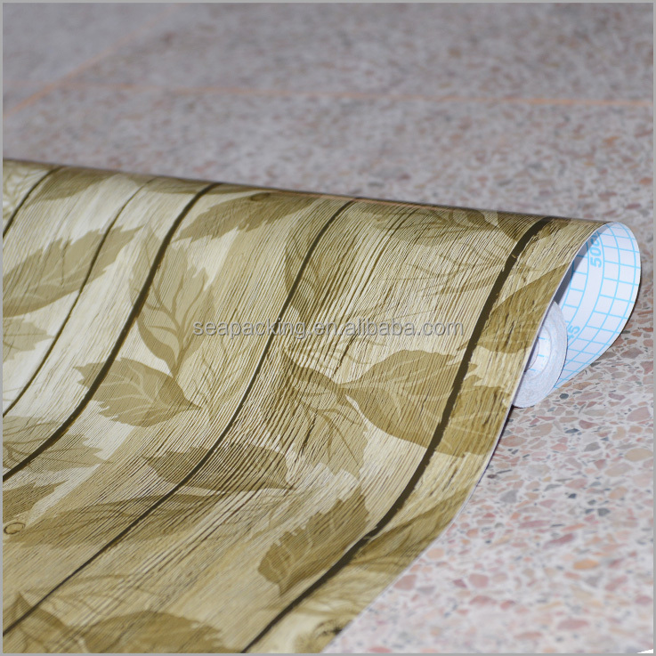 Legno durevole modello strutturato autoadesivo carta da for Carta decorativa per mobili
