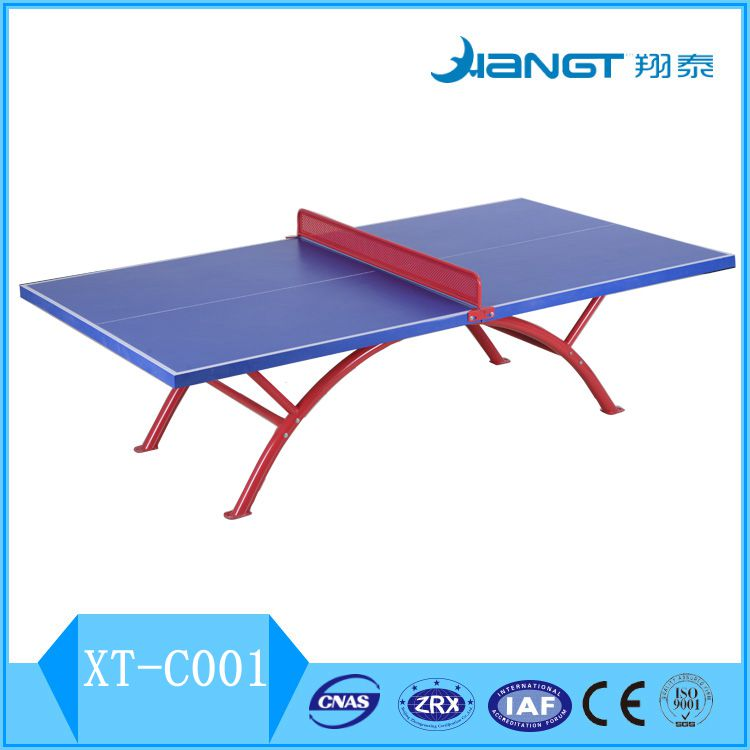 Hot sale SMC Waterproof Tennis Table/Ping-pong Table Rainbow Metal Leg,ball,net,paddle