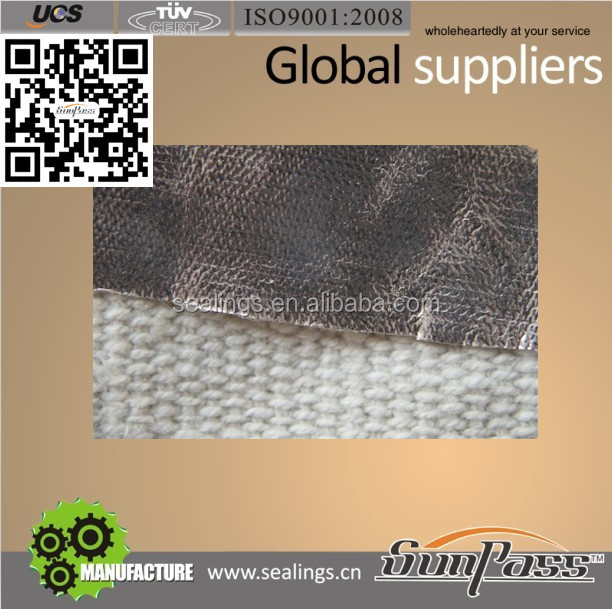 4400AL Good Sale Fireproof Aluminium Foil Ceramic Fabric Ceramic Fiber Cloth