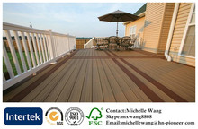 Fire resistant factory price WPC decking floor, wood plastic composite floor, exterior wood plastic composite flooring