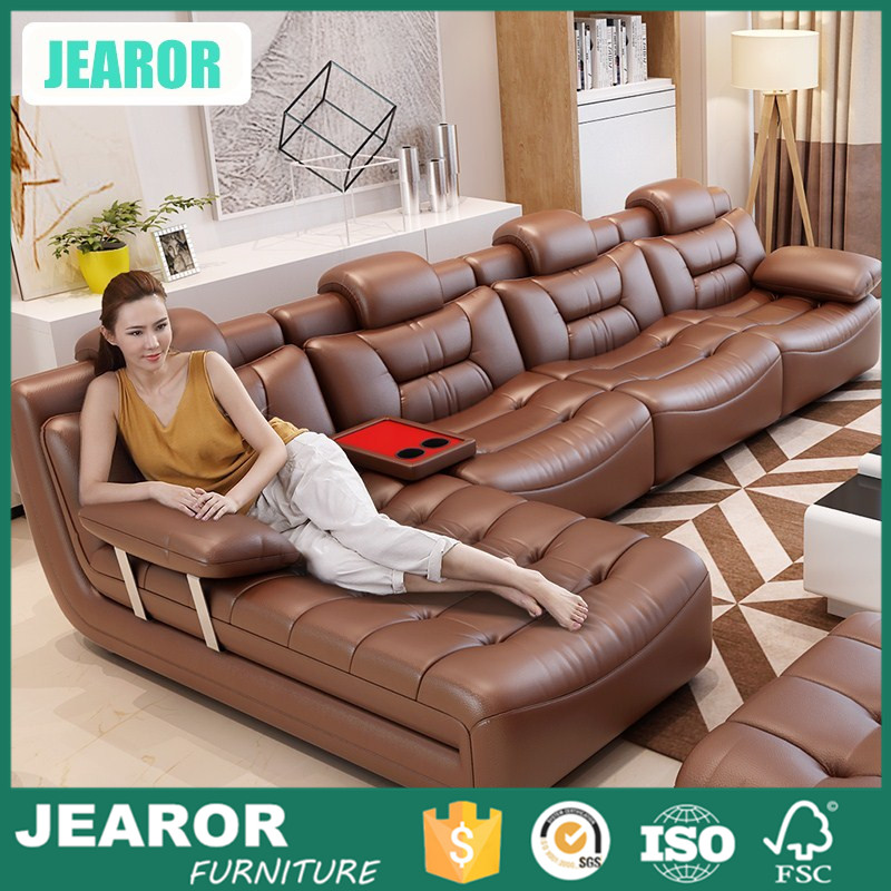 Contemporary Latest Genuine Leather Sectional Sofa Designs 2016 3200