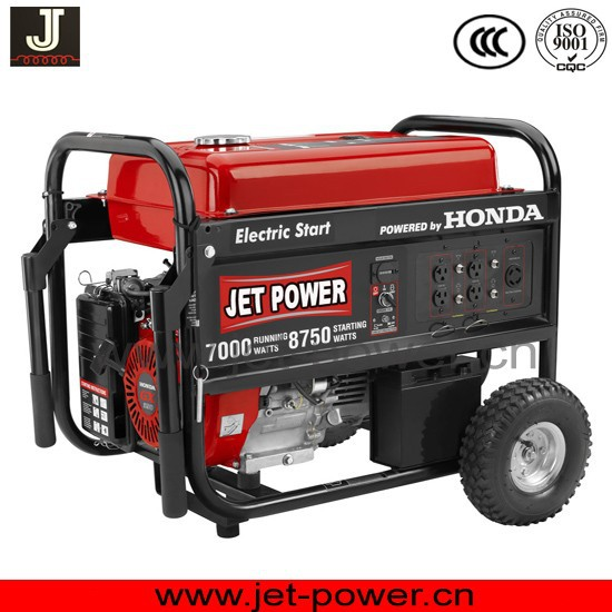 HONDA gasoline generator 5kw with wheel kit for choice