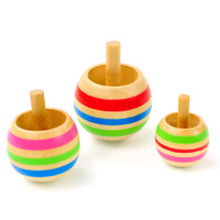 FQ brand traditional pocket kids toddlers wooden toy child game spinning tops