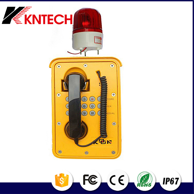 KNTECH KNSP-09 outdoor waterproof IP phone intercon system Industrial SOS telephone