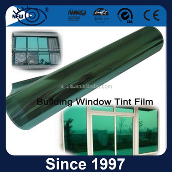 Energy saving and window decorative green mirror building film solar reflective