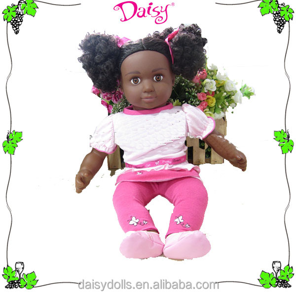 Fast delivery factory cheap price 18 inch black doll