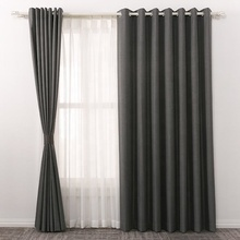 Factory wholesale sale flame retardant fire resistant flocking luxury blackout curtain