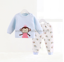 Cartoon Monkey 2015 Baby Thickening Underwear Set