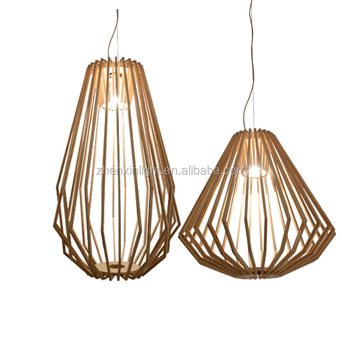 Modern Wooden Pendant Lighting Chandelier Hanging