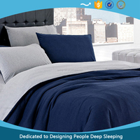 China Wholesale Cheap 70GSM Double Brushed polyester Reversible duvet cover in twin full queen king size