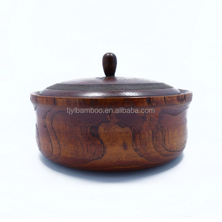 18*7.5CM wood artcraft factory sell directly customized round wooden trays wlth cover for sale
