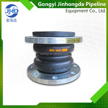Double sphere flexible concrete rubber expansion joint/compensator