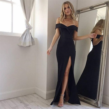 Black Pink White Elegant Strapless Women Sexy Dress Wrap Wedding Party Evening Dinner Bodycon Long Dresses