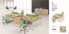 high quality fashion aluminum partition office cubicle workstation mdf wood factory price TC84