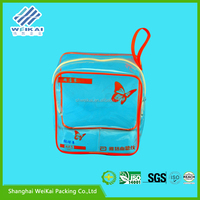 biodegradable pvc packaging bag, transparent vinyl custom Logo underwear bag, plastic garment case SHWK3081