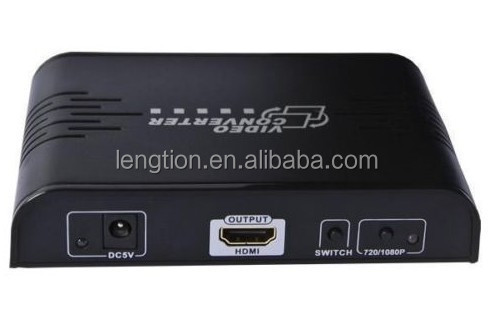 HDMI Composite RCA AV S-Video <strong>R</strong>/L Audio to HDMI Converter Adapter <strong>1080p</strong> Upscaler