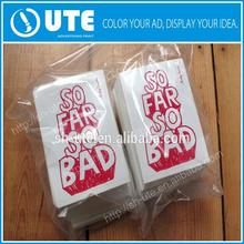 promotional window sticker/printing sticker label adhesive tape small paper colored