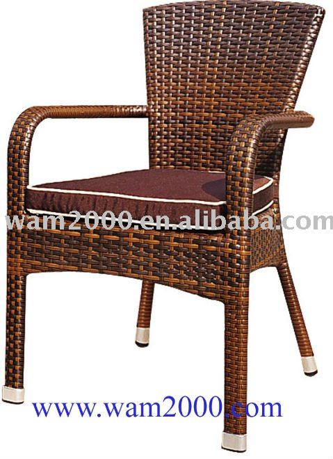 PE rattan chair for Coffee shop